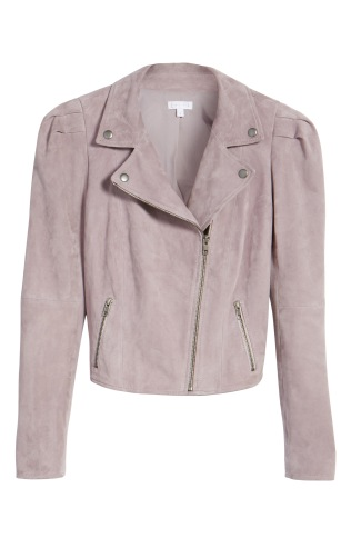 Leith purple faux suede jacket (one of my favourite pieces!) On sale July 21st - August 6th during Nordstrom's anniversary sale