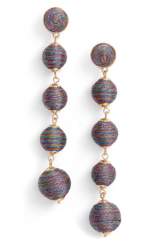 Tassels and balls are everywhere! Shop these Bauble Bar Earrings during the Nordstrom Anniversary Sale July 21st - August 6th.