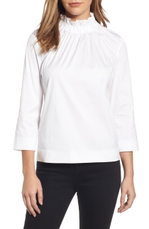White ruffled collar shirt - an awesome twist on a classic. On sale July 21st -August 6th during the Nordstrom Anniversary Sale
