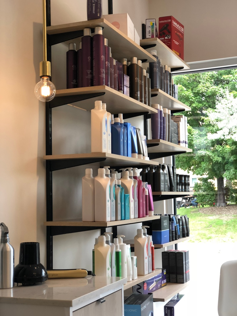 The salon had a very clean and zen feel