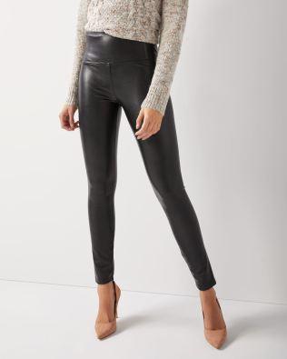 faux-leather leggings, RW & Co.
